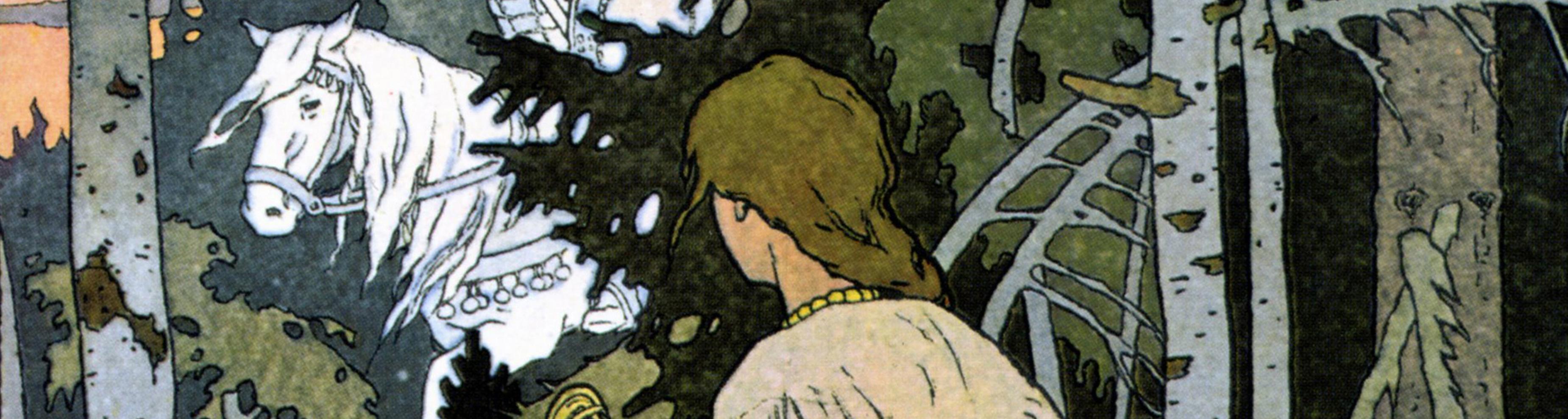 """VASSILISSA LA TRES-BELLE"", illustration de Bilibine (1876-1942)"